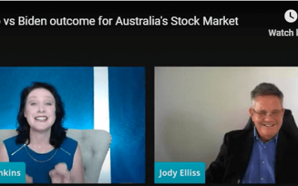 Trish Jenkins Interviews Jody Elliss of Investor Centre about Trump vs Biden outcome on the stock market