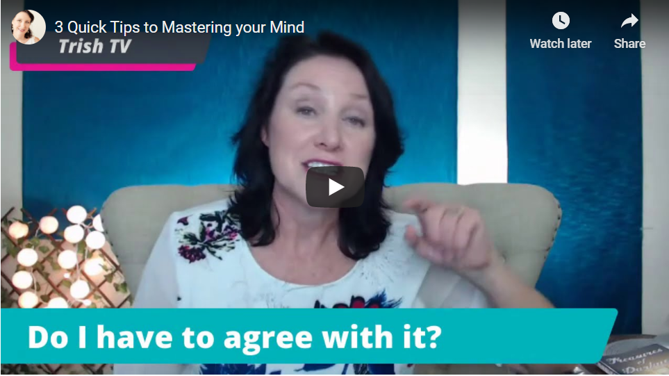 Trish Jenkins sharing 3 quick tips to mastering your mind