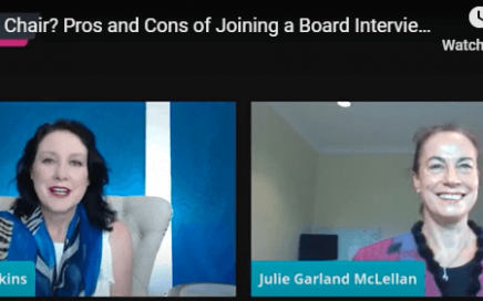 Pros and cons of joining a board interview with Judy Garland McLellan